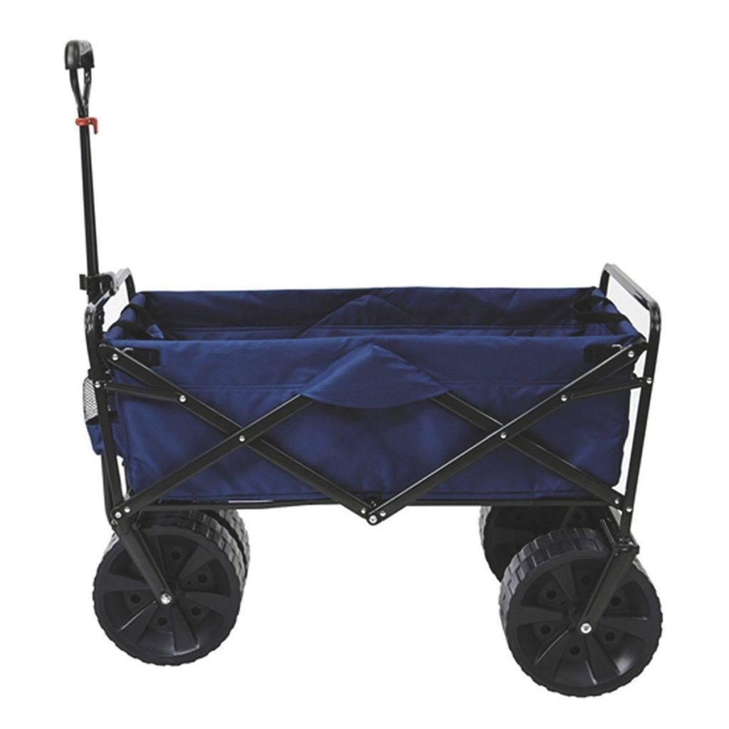 Mac-Sports-Heavy-Duty-Collapsible-Folding-All-Terrain-Utility-Beach-Wagon-Cart-Blue-Black