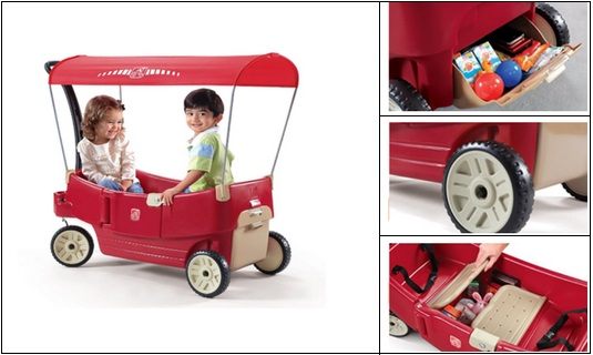 Step2-All-Around-Canopy-Wagon-Red Step 2 Wagon With Canopy