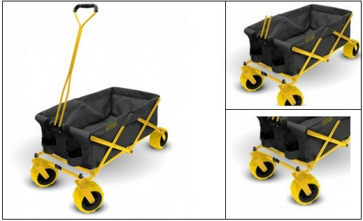 Yellow-Folding-Wagon-Without-Canopy Yellow Folding Wagon Without Canopy