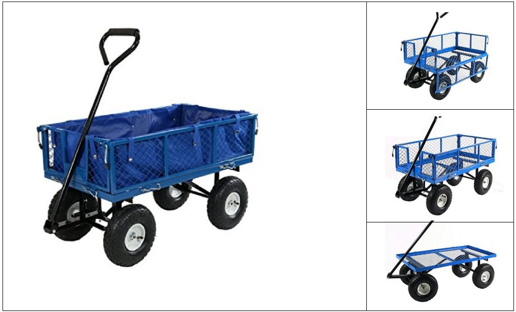 Best-Folding-Wagon-With-Pneumatic-Tires Folding Wagon With Pneumatic Tires