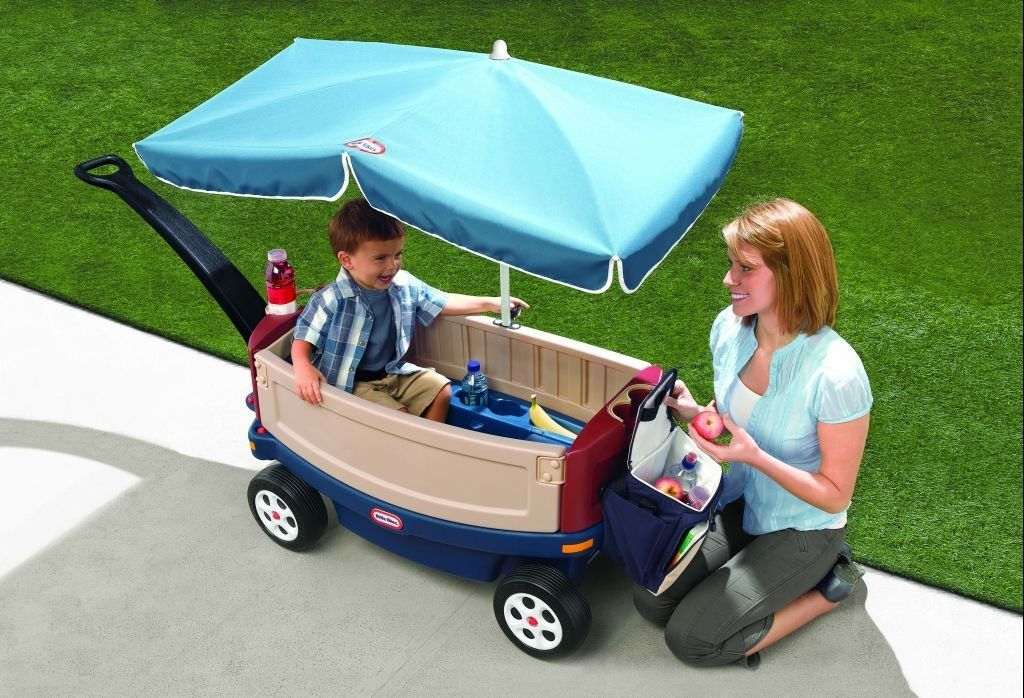 Little-Tikes-Deluxe-Ride-Relax-Wagon-With Umbrella Little Tikes Deluxe Ride and Relax Wagon With Umbrella
