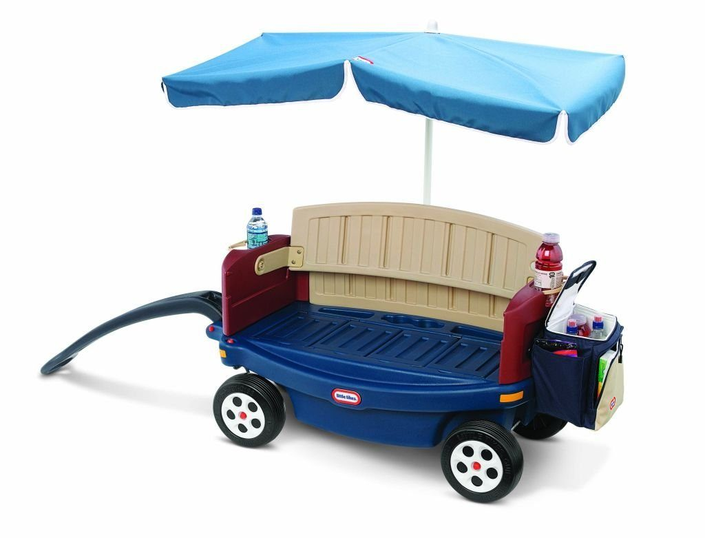 Little-Tikes-Deluxe-Ride-&-Relax-Wagon-With Umbrella Little Tikes Deluxe Ride and Relax Wagon With Umbrella