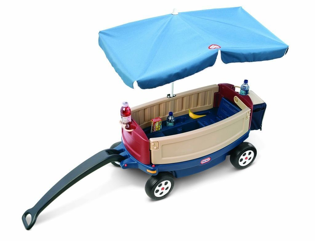 Little-Tikes-Deluxe-Ride-and-Relax-Wagon-Umbrella Little Tikes Deluxe Ride and Relax Wagon With Umbrella