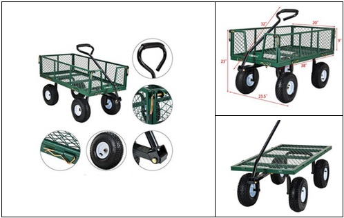 Top-Folding-Wagon-Pneumatic-Tires-free-shipping Folding Wagon With Pneumatic Tires