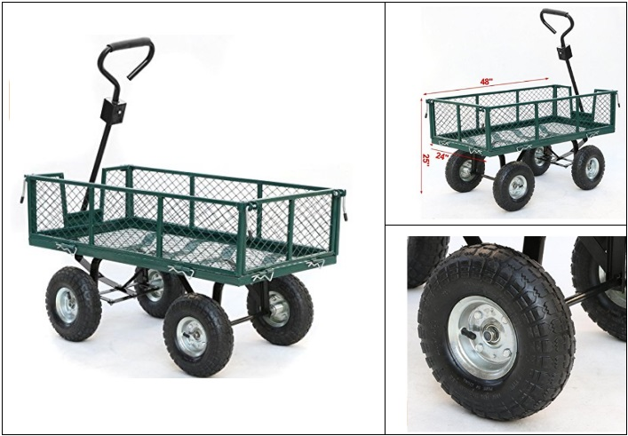 Top-rated-Folding-Wagon-With-Pneumatic-Tires Folding Wagon With Pneumatic Tires