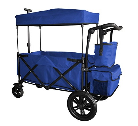 Blue-Folding-Wagon-With-Canopy