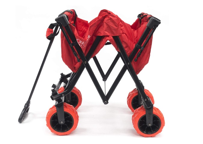Creative-Outdoor-Red-Folding-Wagon-With-Canopy