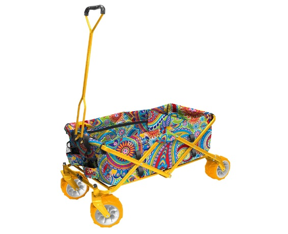 Creative-Outdoor-Yellow-Folding-Wagon-without-Canopy