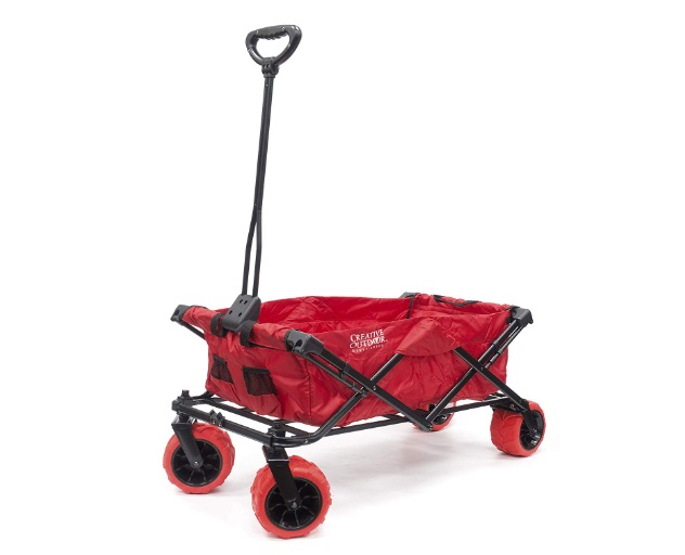 Red-Folding-Wagon-With-Canopy