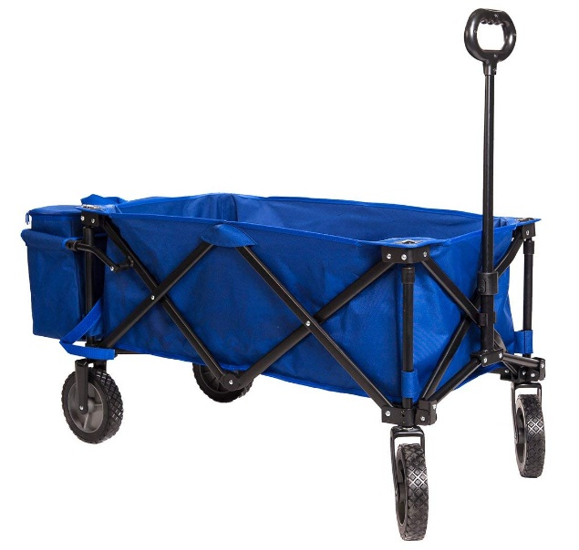 Collapsible-Beach-Wagon-Folding-Camping-Utility-Cart-with-Cooler-Ice-Bag-for-Outdoor-Supports-up-to-150lbs