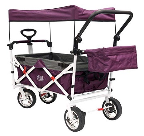 folding wagons with seat belts